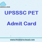 UPSSSC PET Admit Card