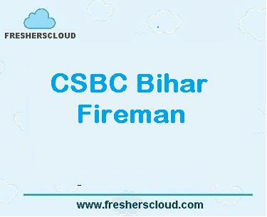 BIHAR Fireman Recruitment