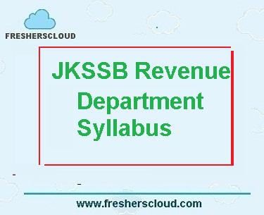 JKSSB Revenue Department Syllabus
