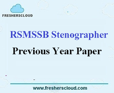 RSMSSB Stenographer Previous Year Question Papers