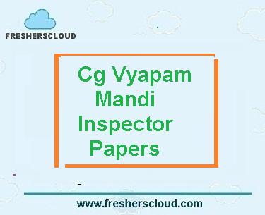 CG Vyapam Mandi Nirikshak Previous Question Papers