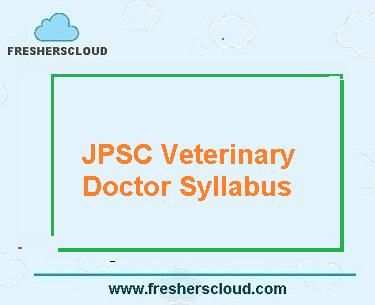 JPSC Jharkhand Veterinary Doctor Syllabus