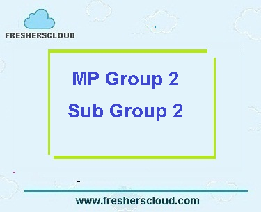 MPPEB Vyapam Group 2 Sub Group 2 Previous Question Papers